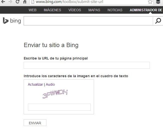 darse de alta en Bing