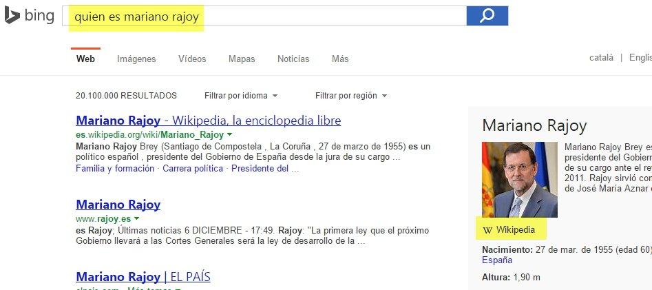 Datos de tercero (Third-Party Web Sites) en Bing España