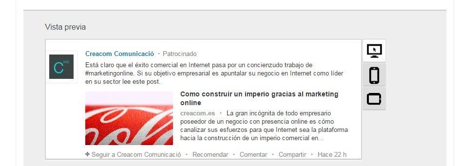 Ver contenido patrocinado LinkedIn Ads en diferentes dispositivos