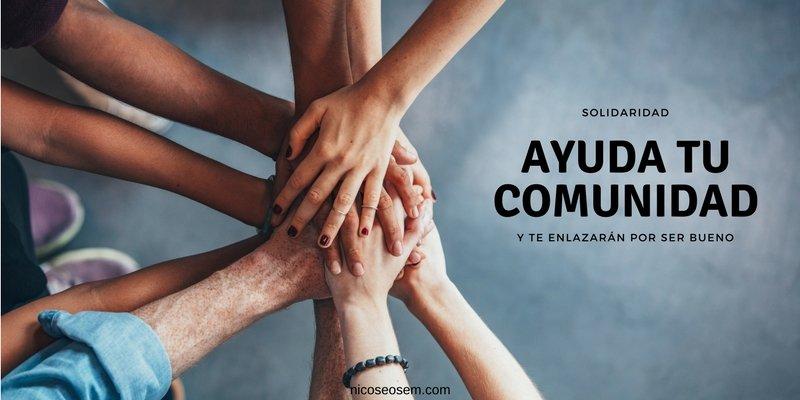 conseguir enlaces ayudando la comunidad
