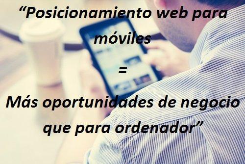 El posicionamiento web en Barcelona para móviles oportunidades de negocio