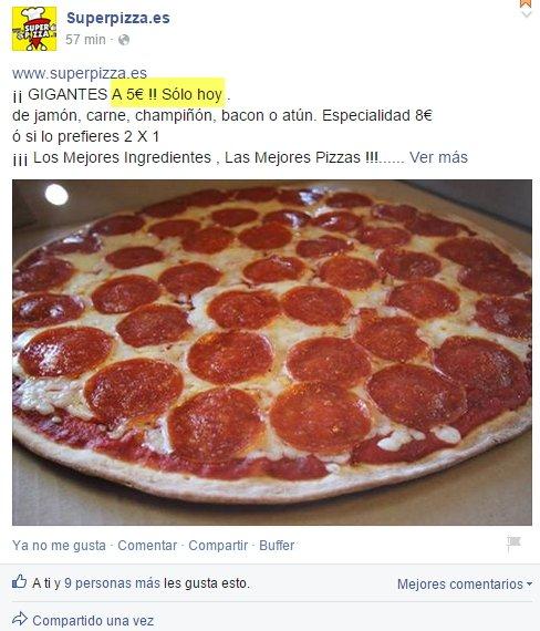 oferta con caducidad en red social desde Facebook