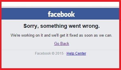 Facebook se cae de nuevo el 28 de septiembre 2015