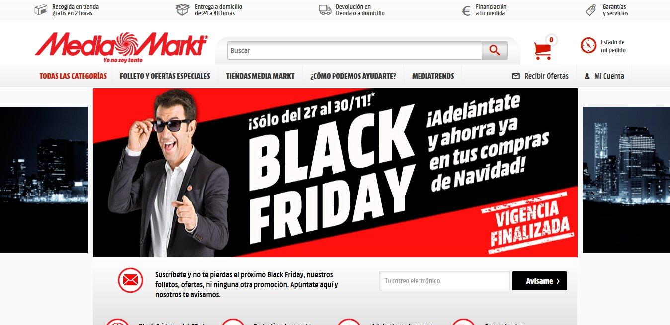landing page Black friday Media market