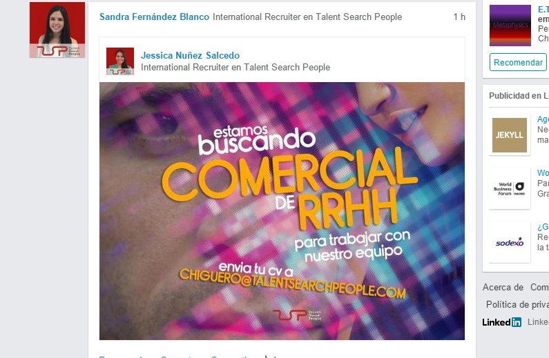 Comunicar oferta de trabajo en LinkedIn de forma original