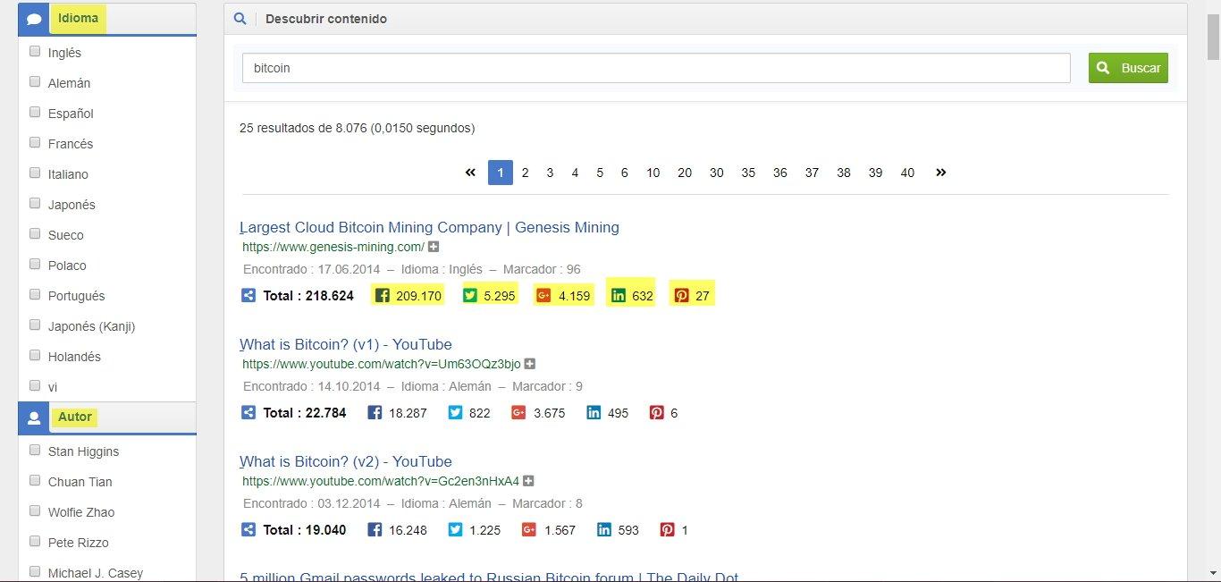 Descubrir cuál es el contenido más viral con Sistrix.