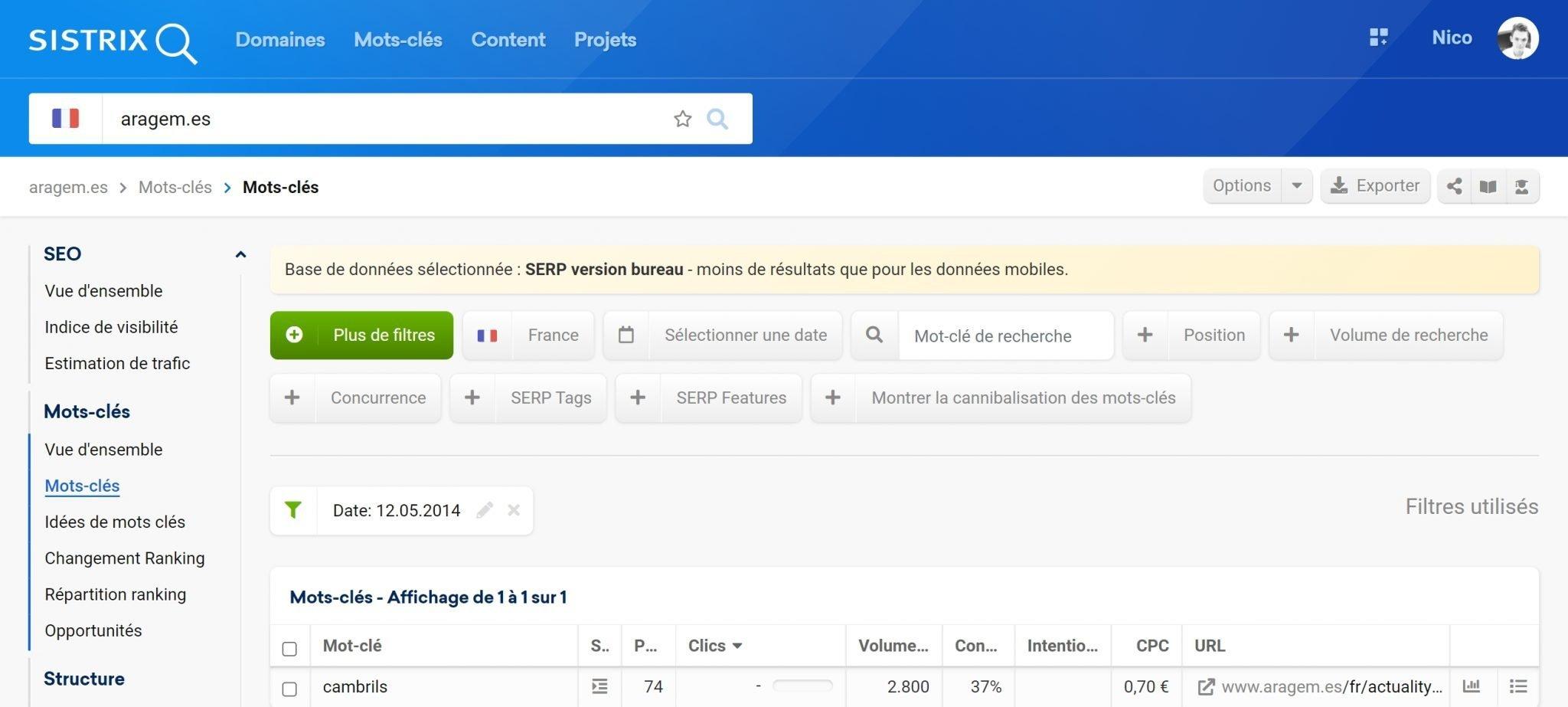 Aragem.es ranke subitement sur Google France
