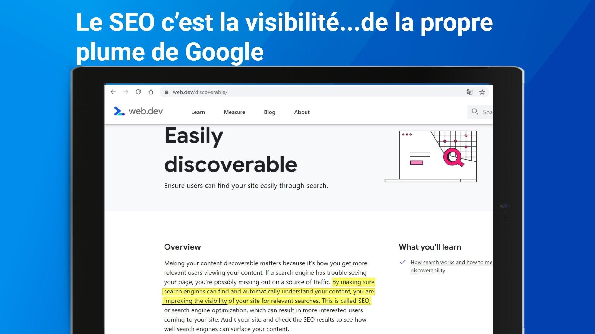 SEO = Visibilité